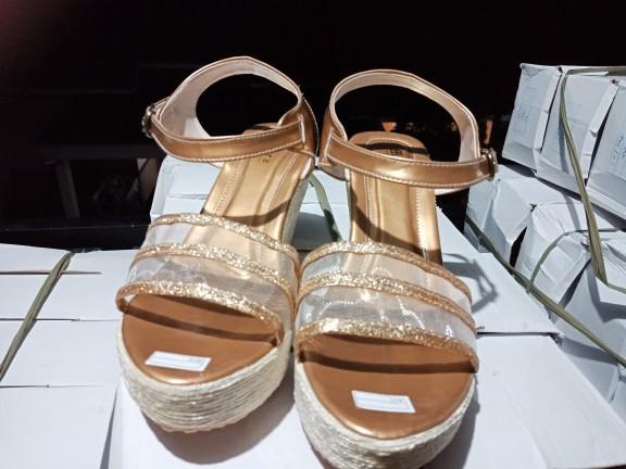 jual Sandal Wedges Wanita Havana SDW274 Gold