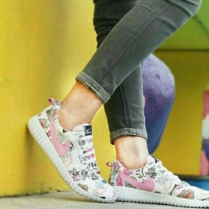 jual Sepatu Wanita Kets Holland List Pink SDS221