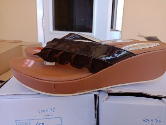 jual Sandal Wedges Wanita Rempel SDW273 Coklat