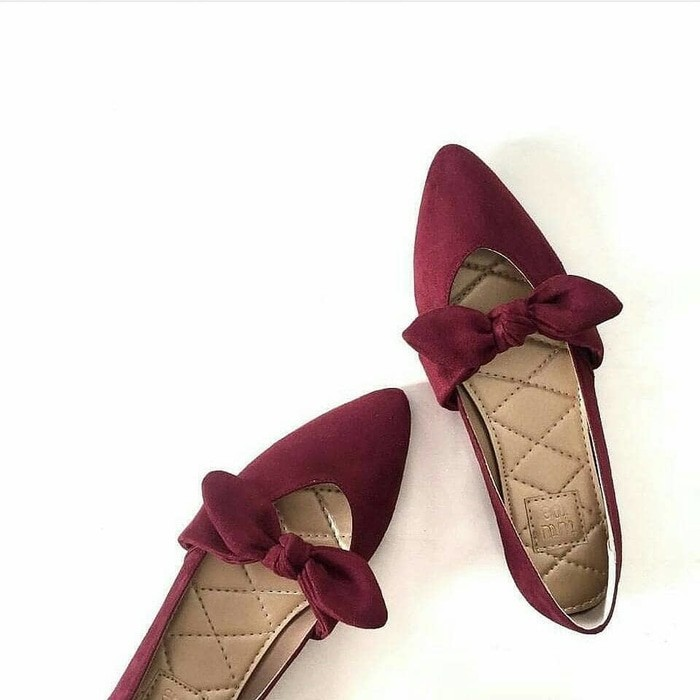 jual Sepatu Wanita Flat Shoes Pita SDB93