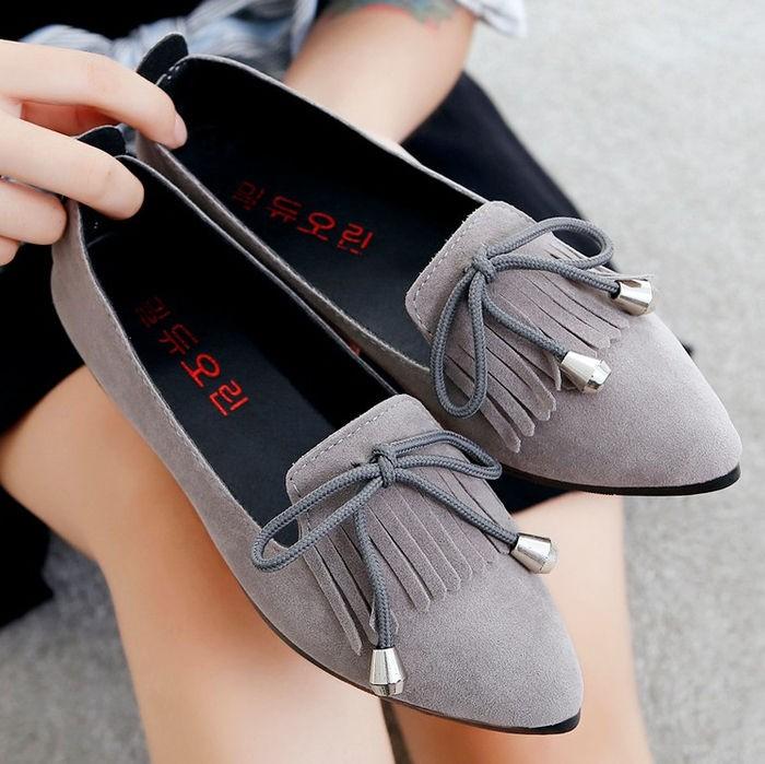 jual Sepatu Wanita Flat Shoes Claretta SDB100 Abu