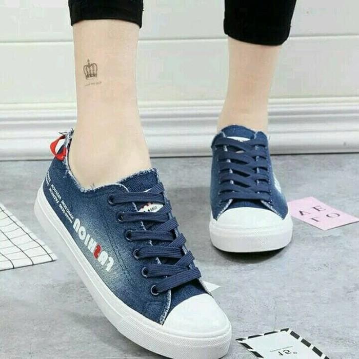 jual Sepatu Wanita Kets Casual Jeans SDS220