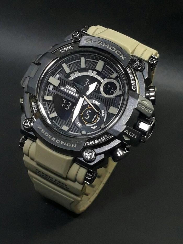 jual Jam tangan SPORT New G-SHOCK G Shock GST201 cream black