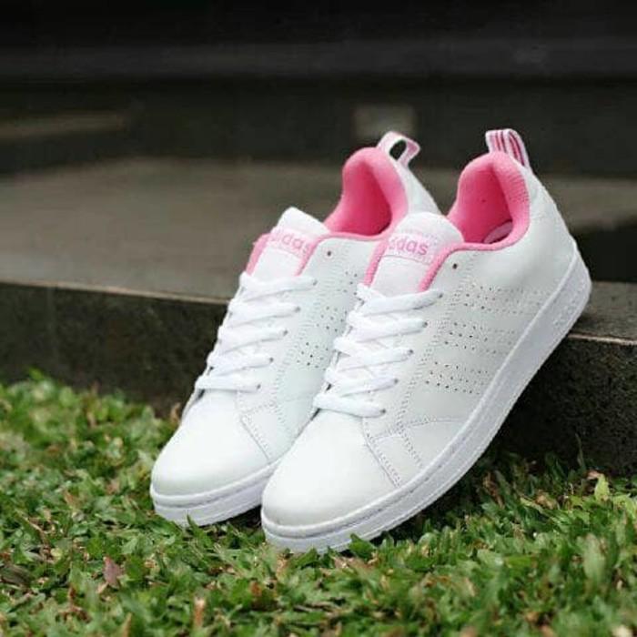 jual Sepatu Kets Adidas Neo Advantage Women Full Putih White Color Premium