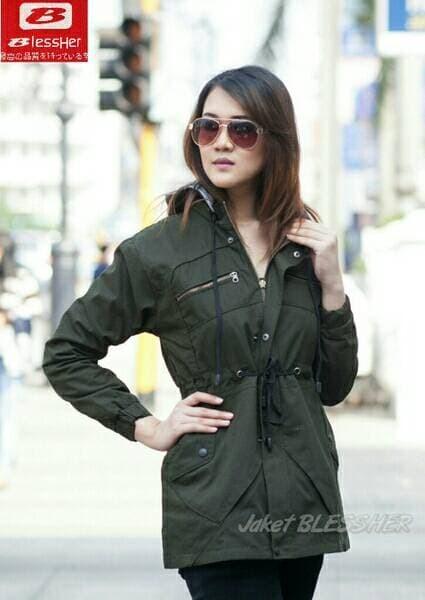 jual best seller jaket parka hijau army xl dan xxl