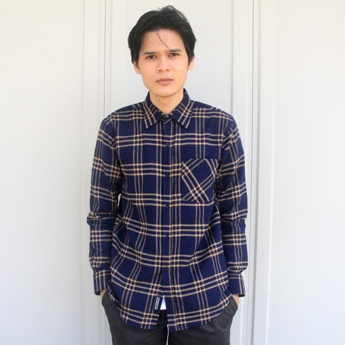 jual Kemeja Flanel Flannel Pria Lengan Panjang Premium Quality [PROMO]