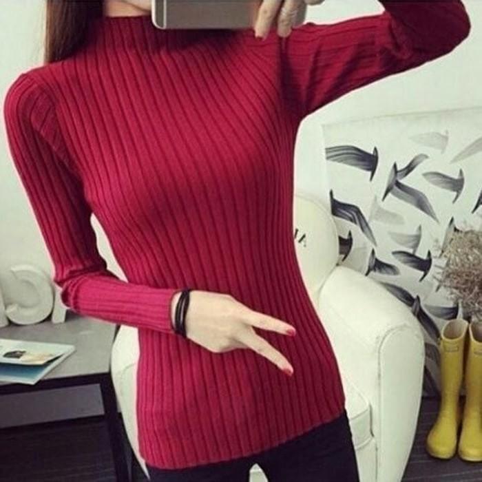jual DAISY SALUR TURTLENECK   daisy salur sweater   sweater daisy salur