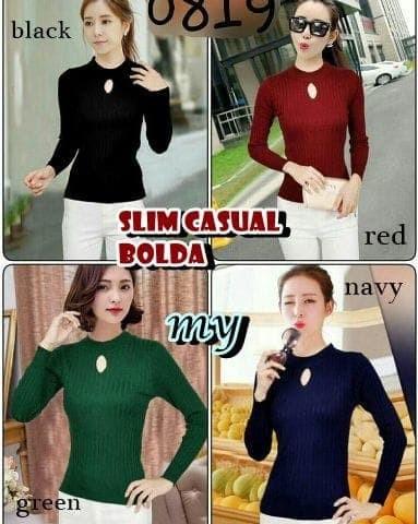 jual Bolda slim casual sweater   SWEATER RAJUT  BAJU RAJUT   GROSIR SWEATER