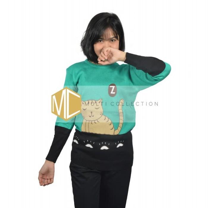jual MIAW SWEATER   sweater rajut   rajut bordir   fashion wanita
