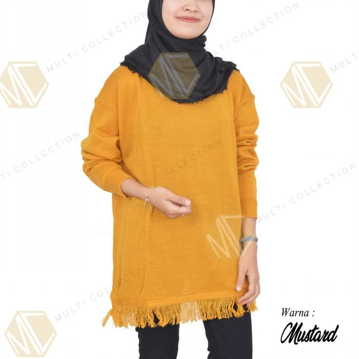 jual SLIM RAIDA - baju wanita - baju rajut - sweater rajut - baju korea