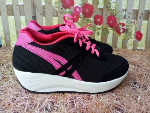 jual Sepatu Wanita Kets Casual SDS164 - Hitam, 37