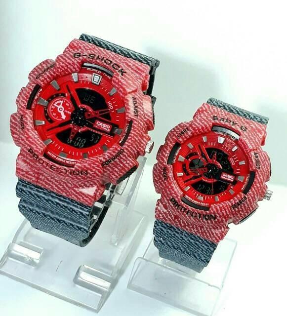 jual Jam tangan sport couple G Shock Baby G red black