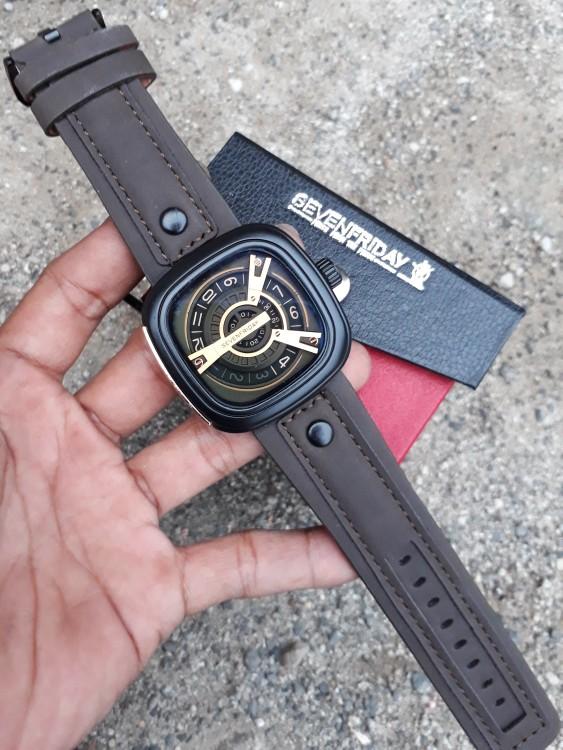 jual Jam tangan Kulit SVFY dark brown