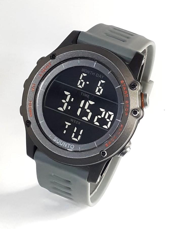 jual Jam tangan sport digital new SUUNTO core gray black