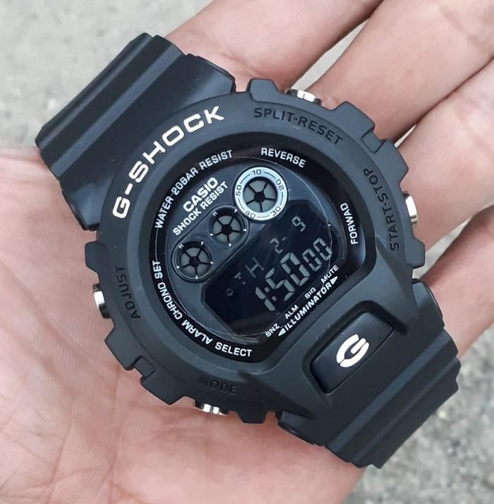 jual Jam tangan pria/Anak cowok murah Casio G-Shock DW-6900 black lisdwhite