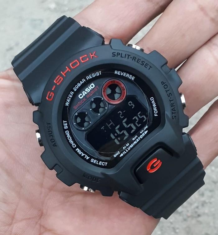 jual Jam tangan pria/Anak Cowok murah Casio G-Shock DW-6900 black lisd red
