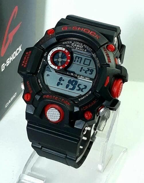 jual Jam tangan pria G-SHOCK GW9400 hitam lis merah