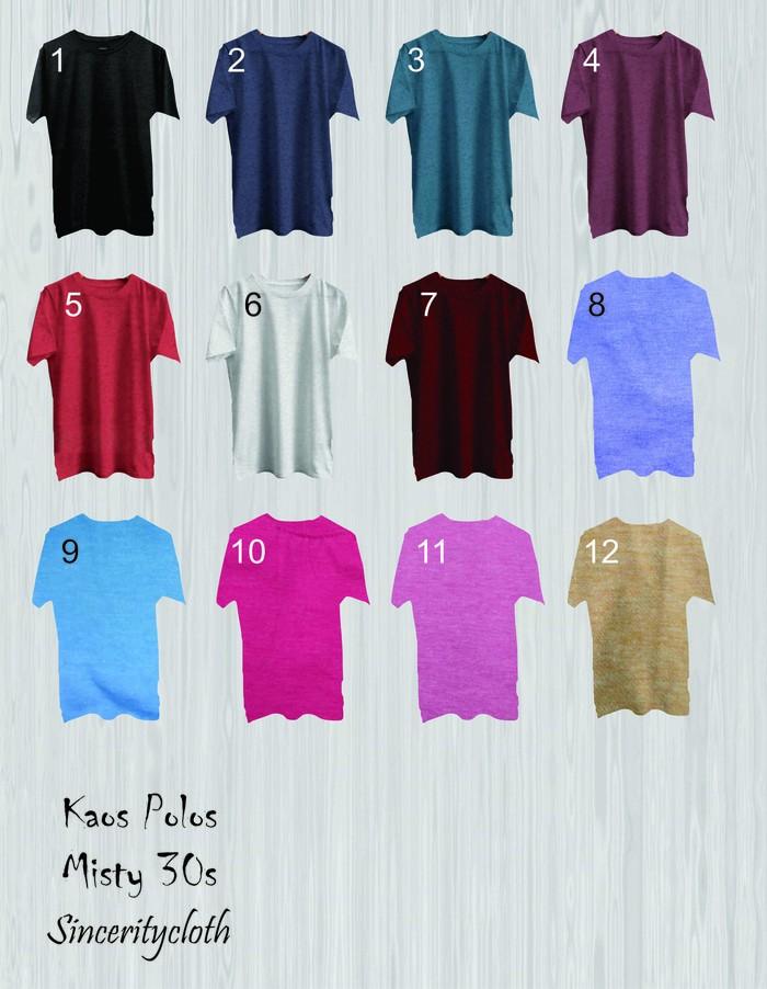 jual Kaos Polos Misty 30s Size S M L Bandung