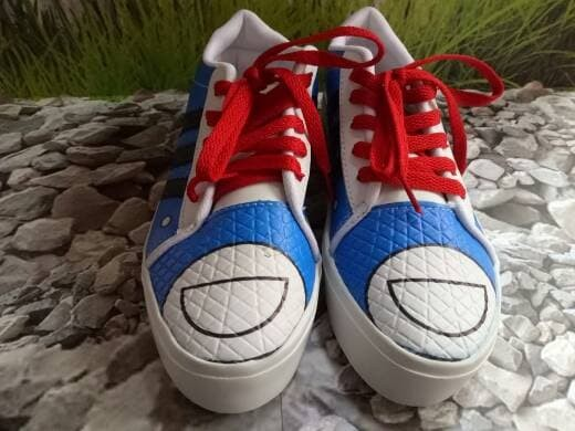jual Sepatu Wanita Kets Casual Motif Doraemon SDS172 - Biru, 36