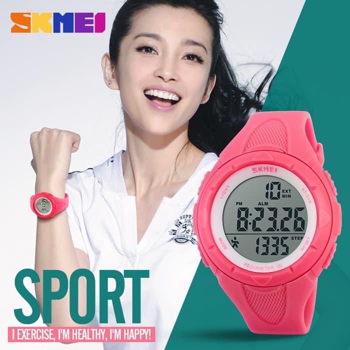 jual SKMEI Pedometer 1108 Original Water Resist 50M - Blue/Pink