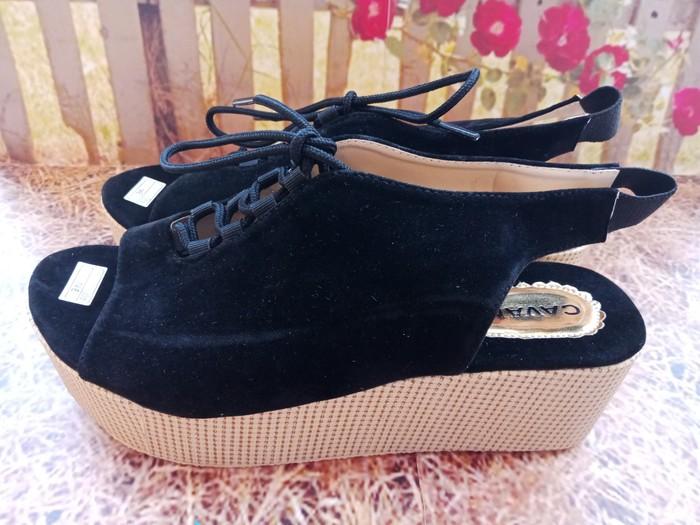 jual Sepatu Sandal Wedges Wanita Tali SDW224