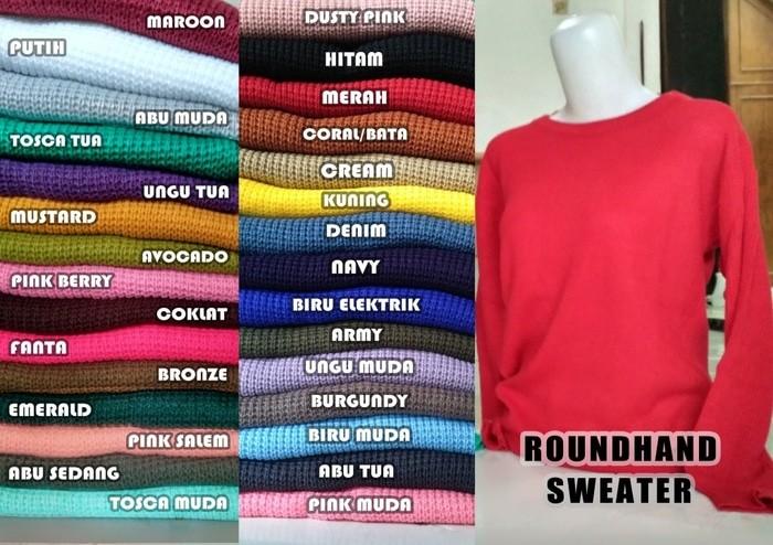 jual Sweater roundhand best seller | SWEATER RAJUT | BAJU RAJUT | RAJUTAN