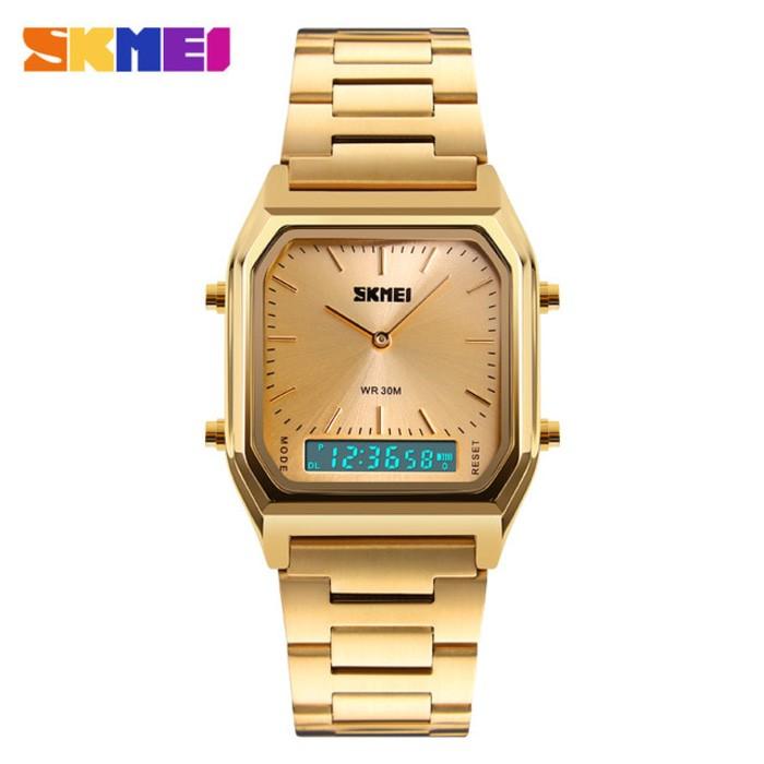 jual Jam Tangan Pria Original SKMEI 1220 Gold Casio Water Resist 30M
