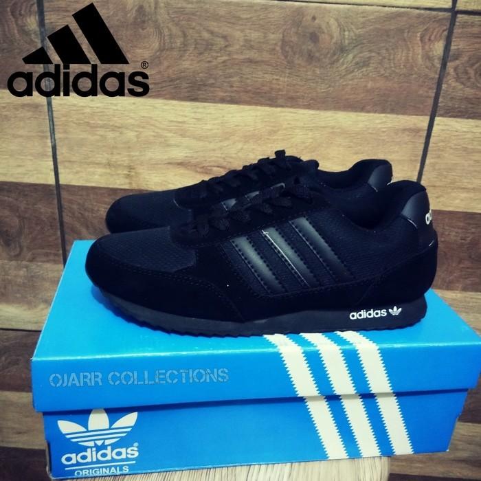 jual Sepatu Sekolah Adidas Neo Full Black Hitam Untuk Anak Pria Cowo Laki