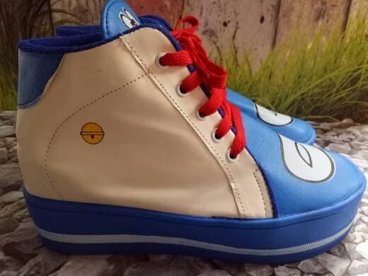 jual Sepatu Boots Wanita Korea Doraemon SBO313