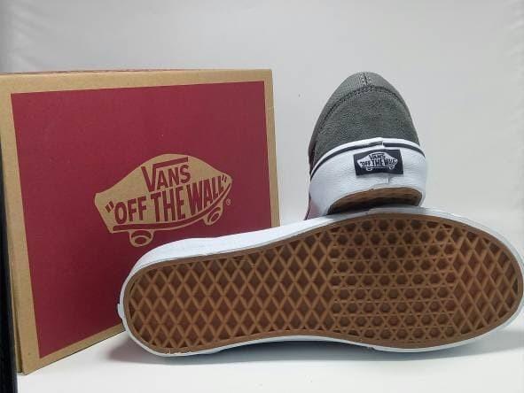 jual Sepatu vans old skool grey black premium quality waffle DT
