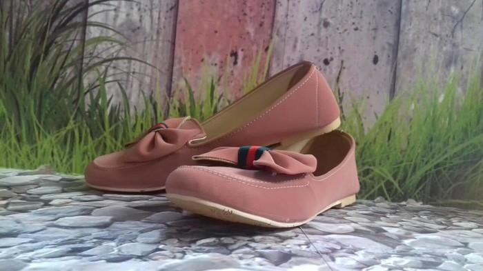 jual Sepatu Wanita Flat Shoes Pita SDB95 PINK