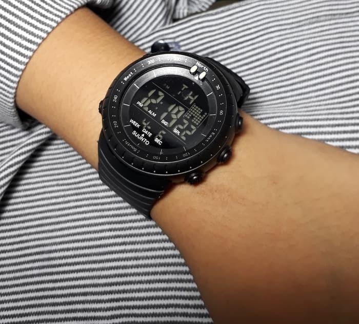 jual Jam tangan sport digital SUUNTO black