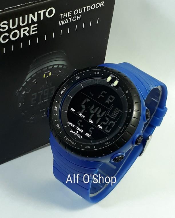 jual Jam tangan sport digital SUUNTO blue