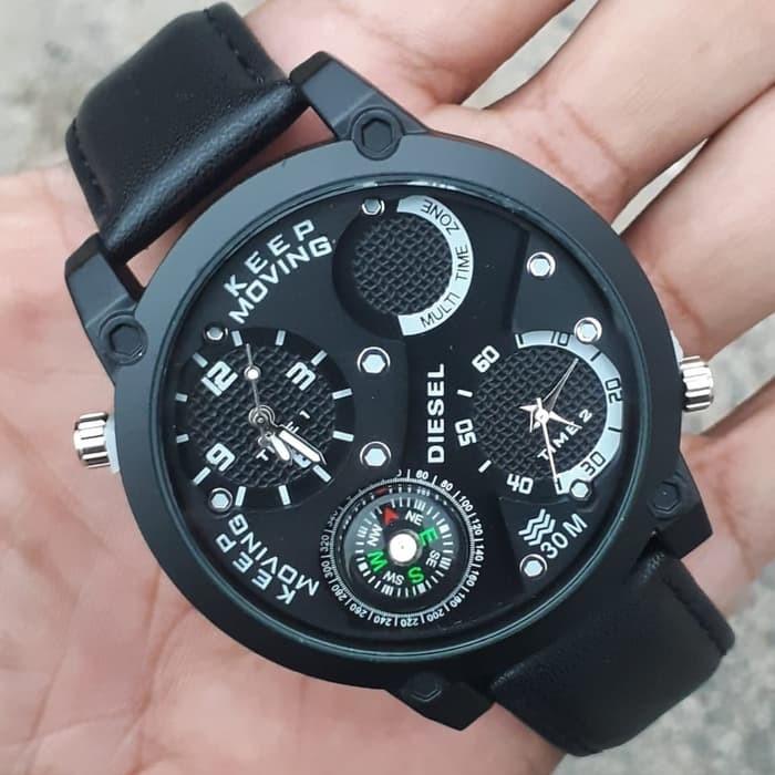 jual Jam tangan kulit Cowok DIESEL tgl