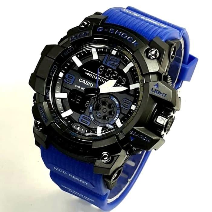 jual Jam tangan sport G Shock water resist buat berenang black blue