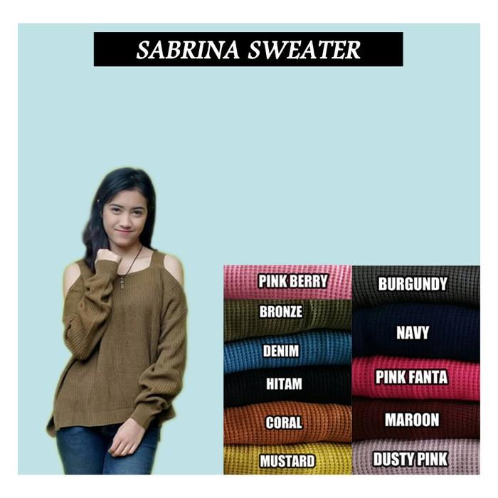 jual Sabrina knit premium BEST SELLER   SWATER RAJUT   BAJU RAJUT   RAJUTAN