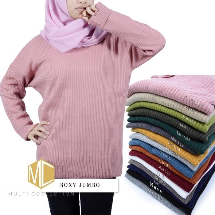 jual Boxy premium jumbo   sweater rajut   baju rajut   pakaian wanita