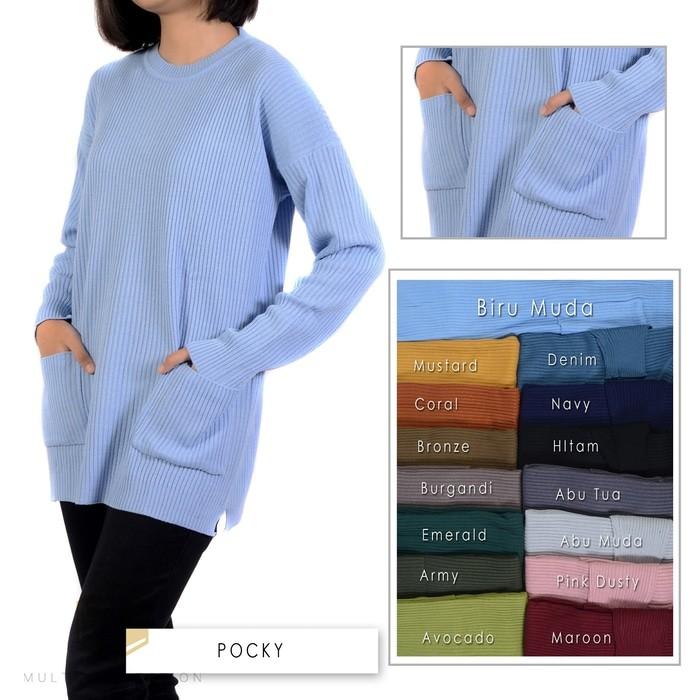 jual Pocky sweater   sweater rajut   baju rajut   rajut korea   rajutan
