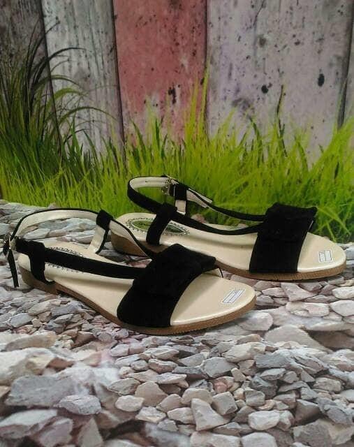 jual Sandal Wanita Flat Pita SDL63 - Hitam, 37