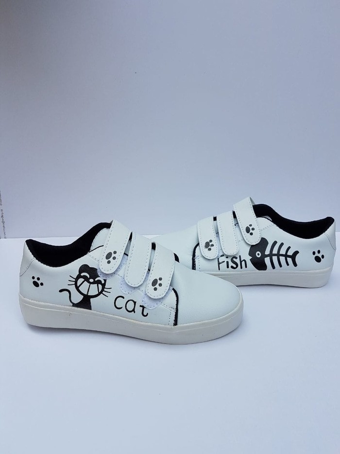 jual Sneaker Cat & Fish - Putih, 38