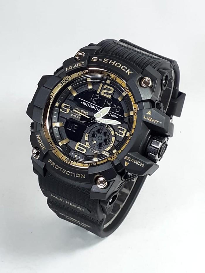 jual Jam tangan water resist G Shock GWG1000 black gold berenang