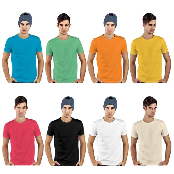 jual Kaos Polos Lengan Pendek Pria 100% Soft Combed XS S M L - Merah Muda, S