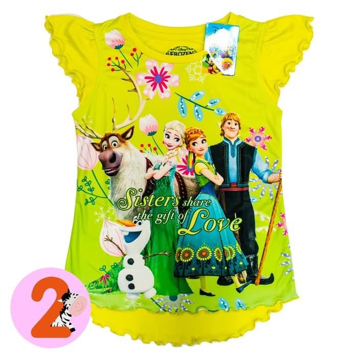 jual Disney ORI Kaos Anak Perempuan - Frozen - 7-8 tahun