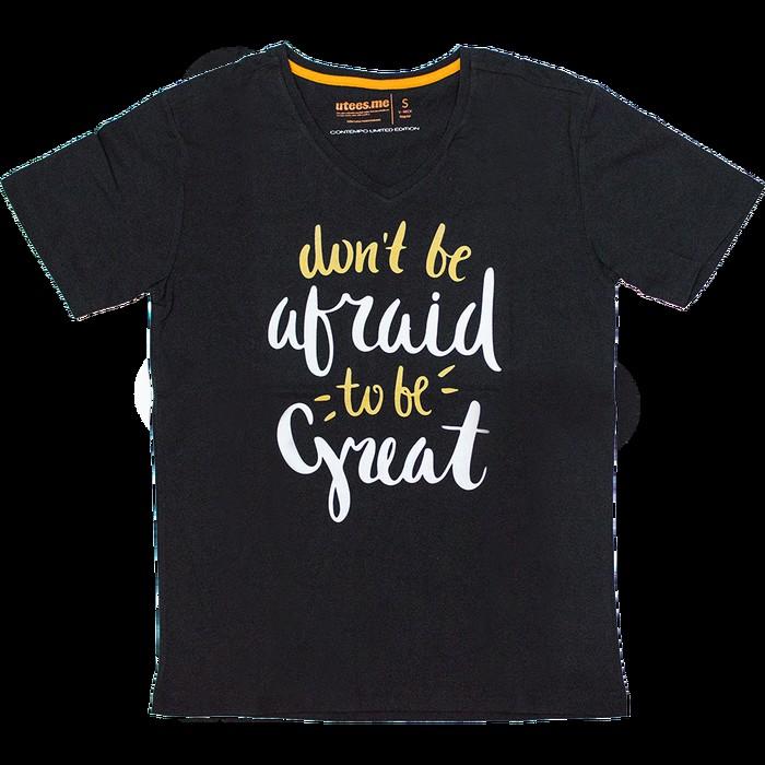 jual Regular T-Shirt V Neck Dont' Be Afraid
