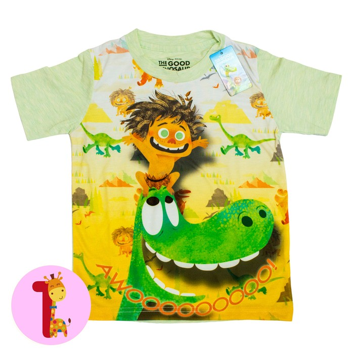 jual Disney ORI Kaos Anak Laki Laki - Good Dino - 3-4 tahun