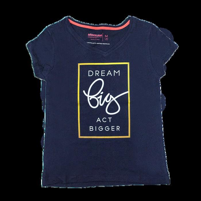 jual Female T-Shirt V-Neck Dream Big