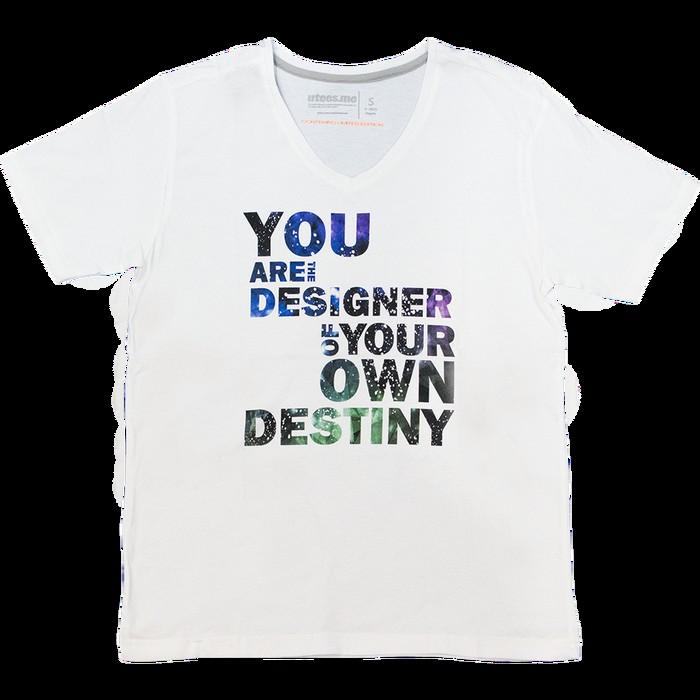 jual Regular T-Shirt V-Neck You Are Designer Your Own Destiny