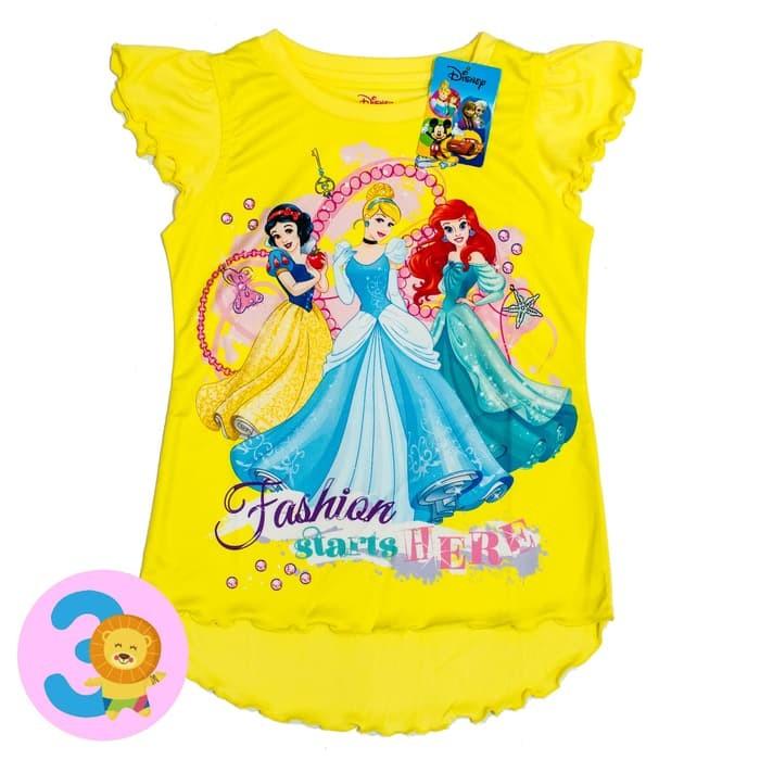 jual Disney ORI Kaos Anak Perempuan - Princess - 5-6 tahun