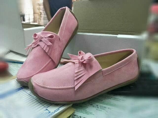 jual Sepatu Wanita Flat Shoes Wanita SDB94 Pink