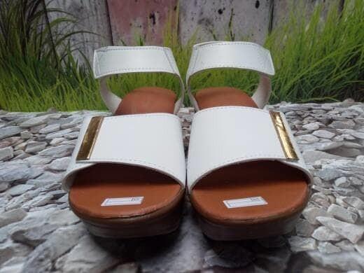 jual Sandal Wedges Wanita Slop Niana SDW264 Putih